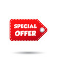 special offer hang tag label on white background vector image vector image