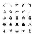 star wars glyph icons vector image