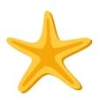 starfish sea isolated icon vector image vector image