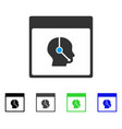 telemarketing operator calendar page flat icon vector image vector image
