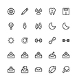 User Interface Colored Line Icons 28 vector image vector image