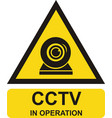 video surveillance sign vector image