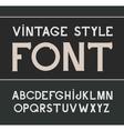 vintage label font Label style vector image vector image