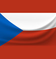 waving national flag of czech republic vector image