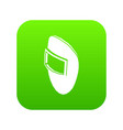 welding mask icon green vector image vector image