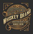 whiskey card western style vector image vector image