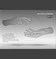 wire frame hands vector image vector image