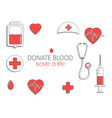 world blood donor day international holiday vector image vector image