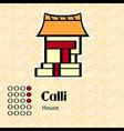 Aztec symbol Calli vector image