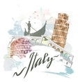 Attractions Of Italy vector image