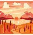 summer sunset vector image