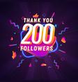 200 followers celebration in social media vector image