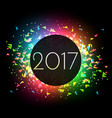 2017 celebration background with colorful lights vector image vector image