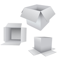 3D Box Set vector image vector image