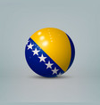 3d realistic glossy plastic ball or sphere vector image