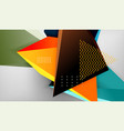 abstract color triangles geometric background vector image vector image