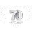 Anniversary 70 silver 3d numbers