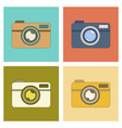 assembly flat icon technology camera vector image vector image