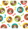 beagle pattern vector image