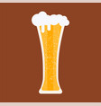 beer glass mug beverage bar pub drink alcohol vector image