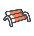 bench park resting place cartoon vector image