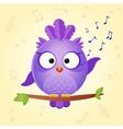 bird sing vector image