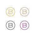 bl-logo vector image vector image
