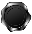 black wax seal vector image vector image