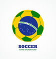 brazil football design vector image vector image