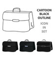 briefcase icon in cartoon style isolated on white vector image vector image