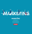 business woman marketing concept business vector image vector image