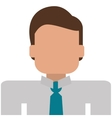 businessman portrait icon vector image