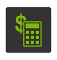 Calculation Icon from Commerce Buttons OverColor vector image vector image