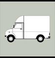 cargo van lining draw vector image vector image