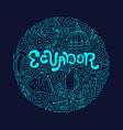 circle concept of ecuador vector image vector image