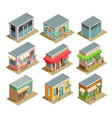 coffee house isometric set vector image vector image