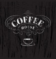 coffee house sign vector image vector image