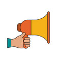colorful megaphone icon vector image vector image