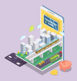 contactless smart card technology flat vector image