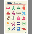Customs and transport urban web icons set vector image vector image