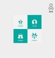 design logo child care logo pack vector image