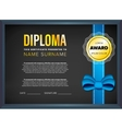 Diploma certificate design template vector image
