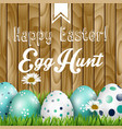 easter greeting flowers and colored eggs vector image vector image