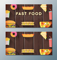 fast food banner backdrops templates vector image vector image