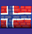 flag of norway painted on brickwall vector image vector image