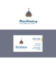 flat church logo and visiting card template vector image vector image