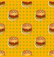 food seamless pop pattern with burger for vector image vector image