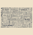 food words wallpaper vector image vector image