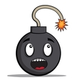 Funky cartoon bomb ready to explode vector image