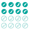 group feather in circle vector image vector image